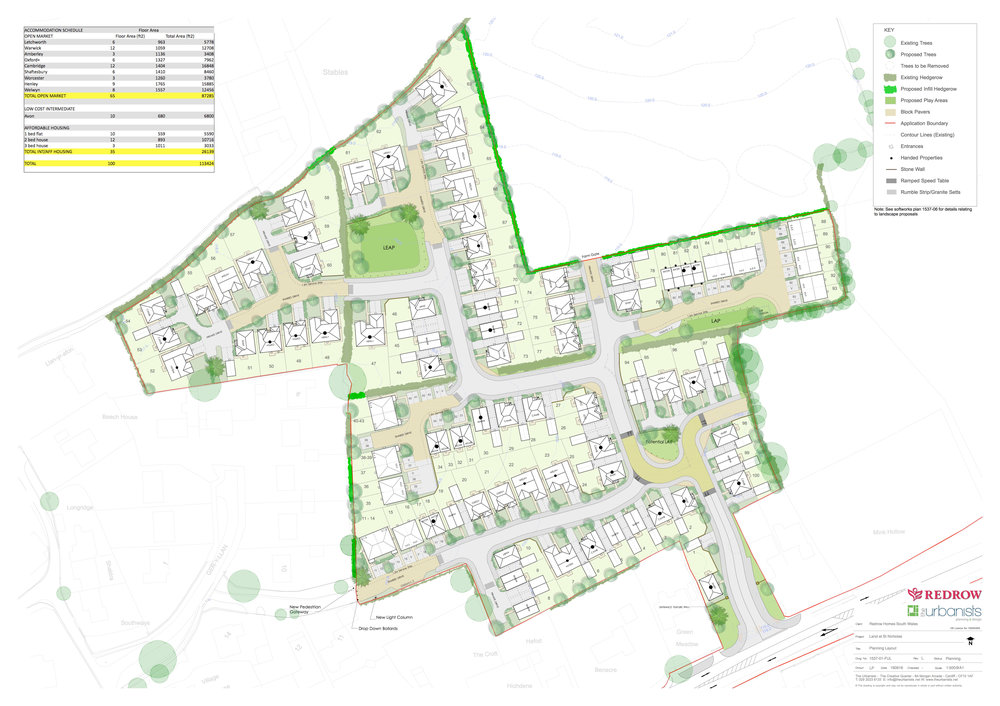 Layout Plan -St Nicholas, Vale of Glamorgan