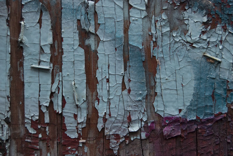 Abstract paint peeling