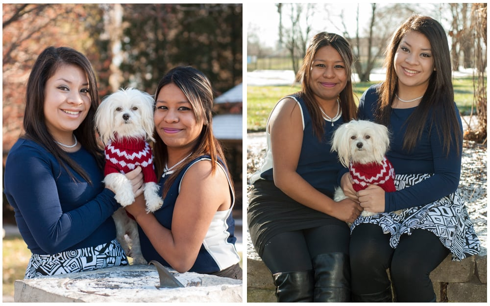 Waukegan sisters portrait session at Bowen Park
