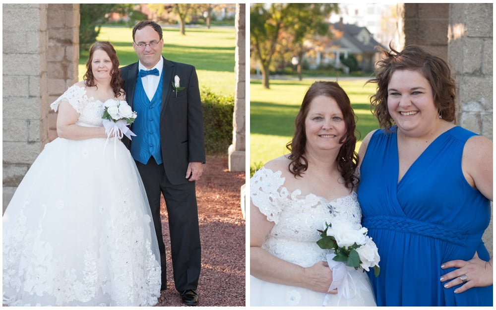 Kenosha Wedding photos at Wolfenbuttel park