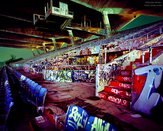 Xavier Nuez, Alleys & Ruins no. 83, Stadium (2006, Miami, FL, 3:30am)
