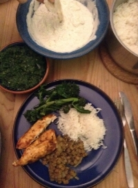 Beautiful meal made using our curry kit