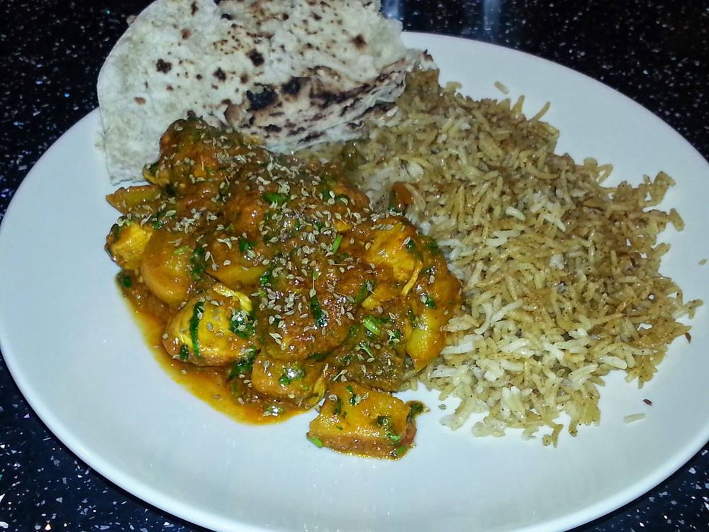 Curry made with our spice curry kit