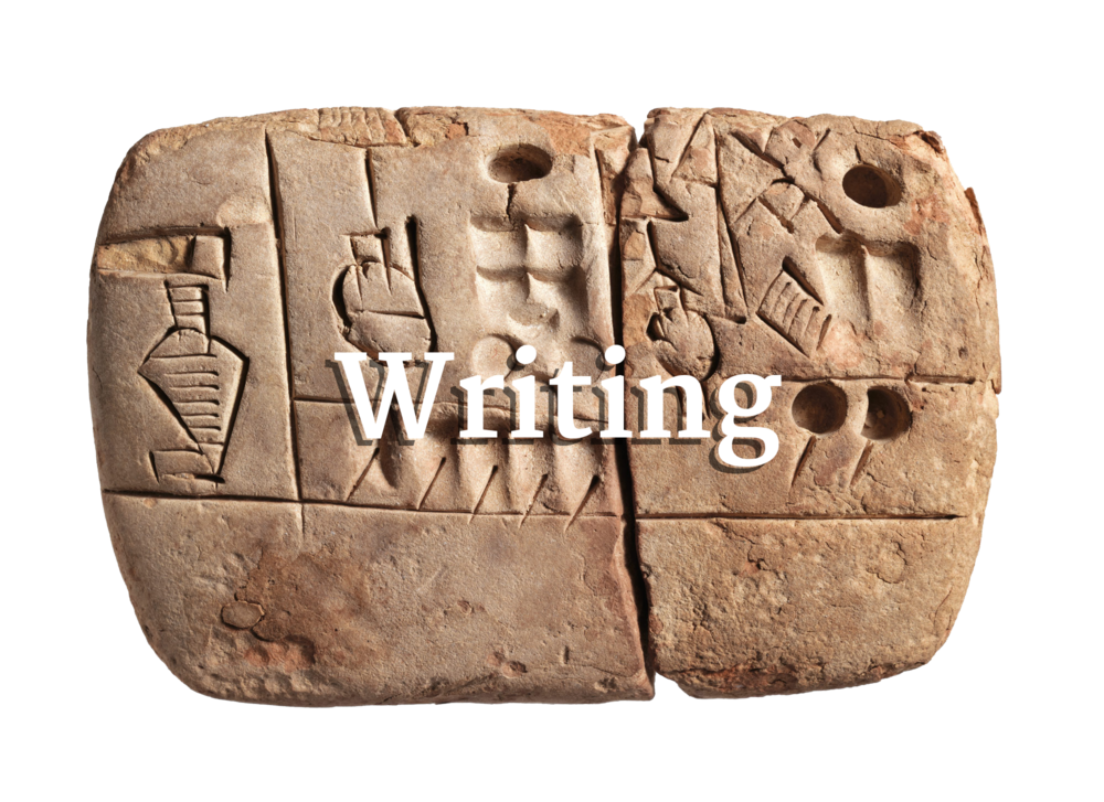 One of the earliest known signs of writing, from the Sumerian culture around 3100–2900ish B.C.