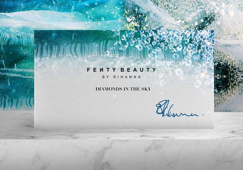 Fenty Beauty Diamonds in the Sky collection - 2018 - Medium: Adobe Photoshop, Illustrator and Adobe Dimension