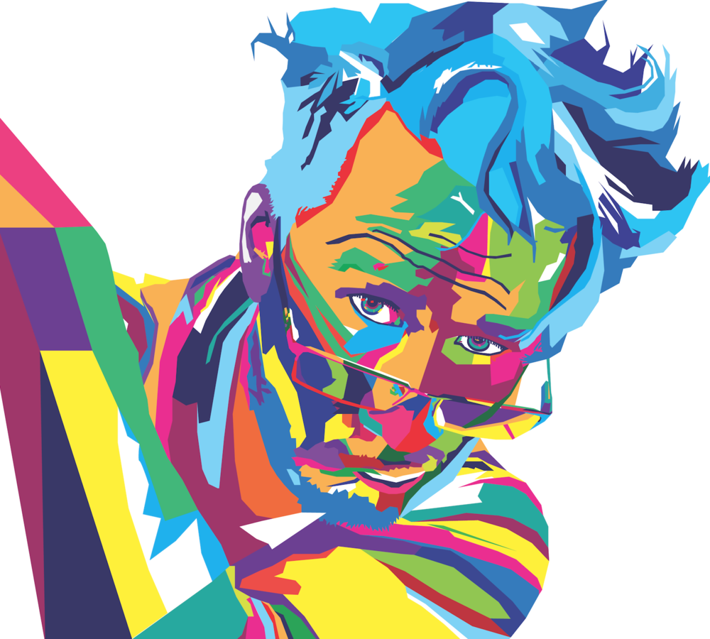 WPAP Markiplier - 2016 - Backcover for one of the Lots Wife magazine editions.Medium: Adobe Illustrator