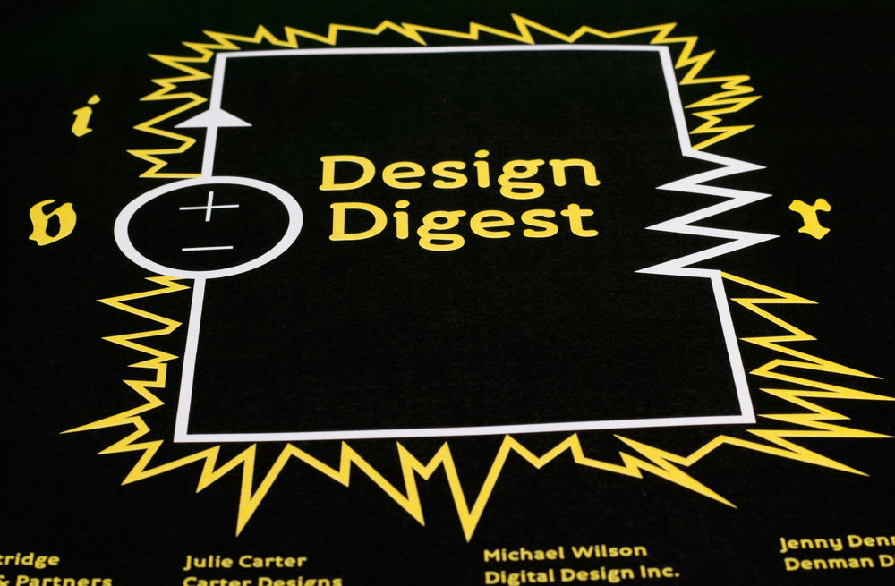 Design Digest Event Poster - 2013 - My first poster as a Graphic Designer. This poster was done when I was a student at Holmesglen TAFE.To purchase this go on my Redbubble store and my Teepublic store.Medium: Adobe Illustrator and Adobe Indesign.