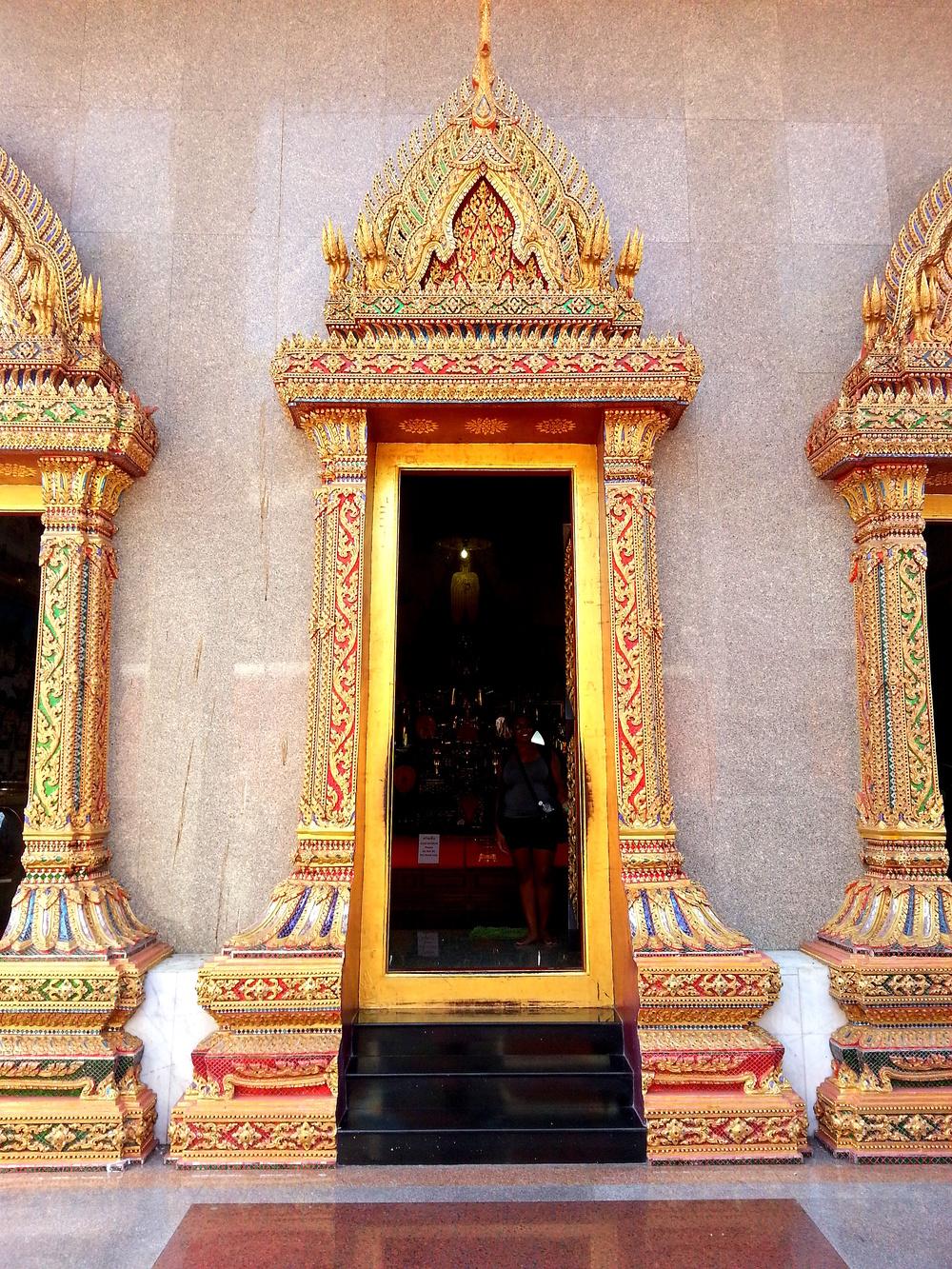 Bangkok Buddhist Temple Doorway Thailand 2.jpg