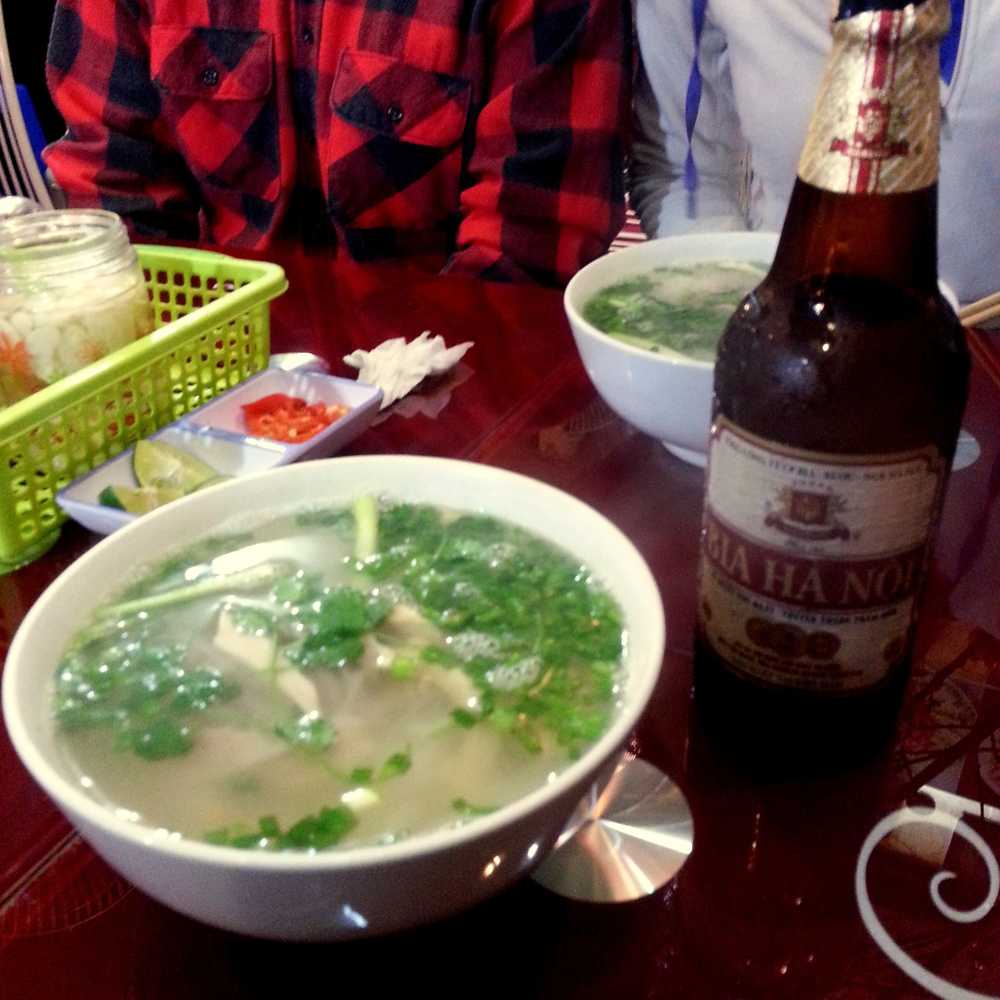 My first ever bowl of pho actually in Vietnam