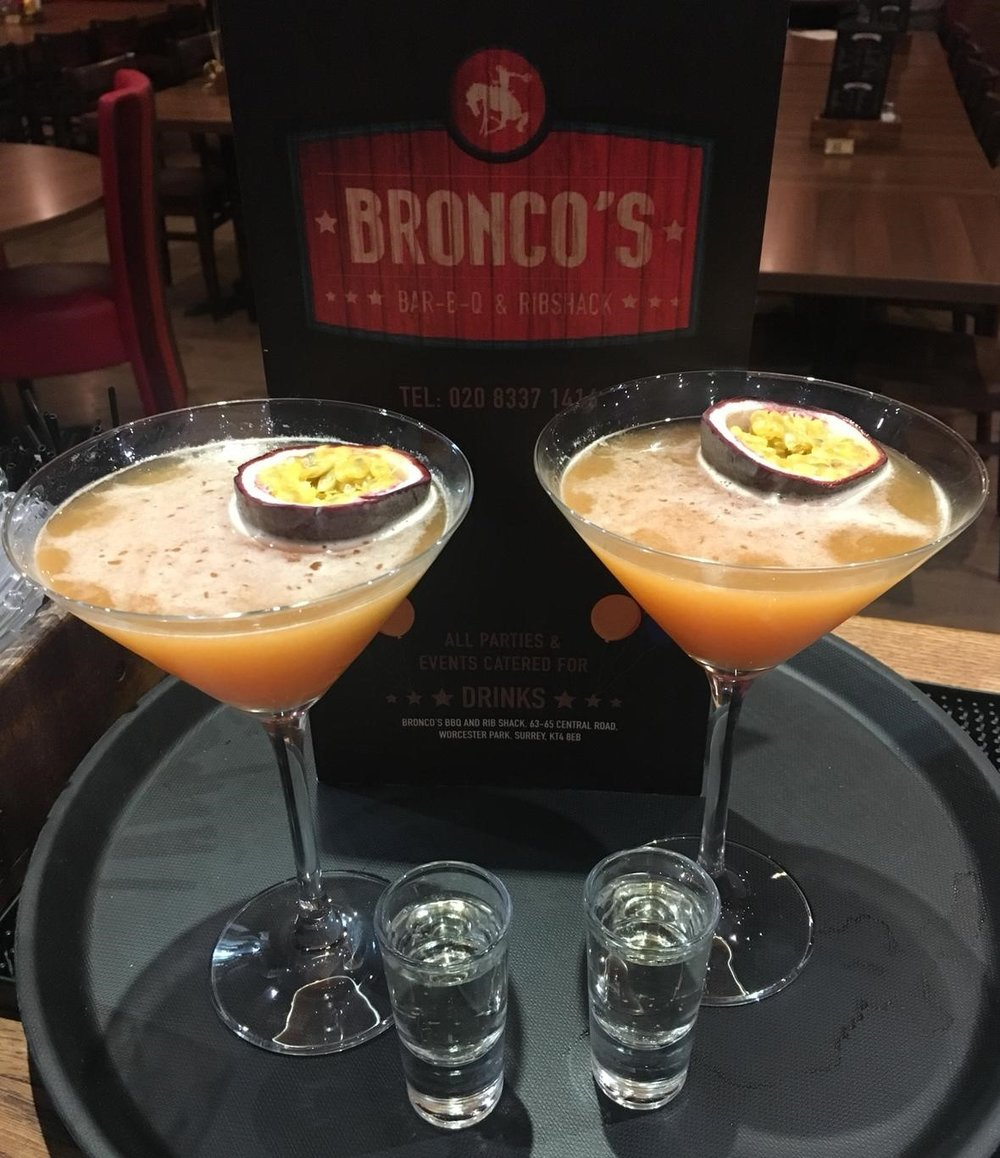 The Porn Star is Bronco's most popular cocktail -