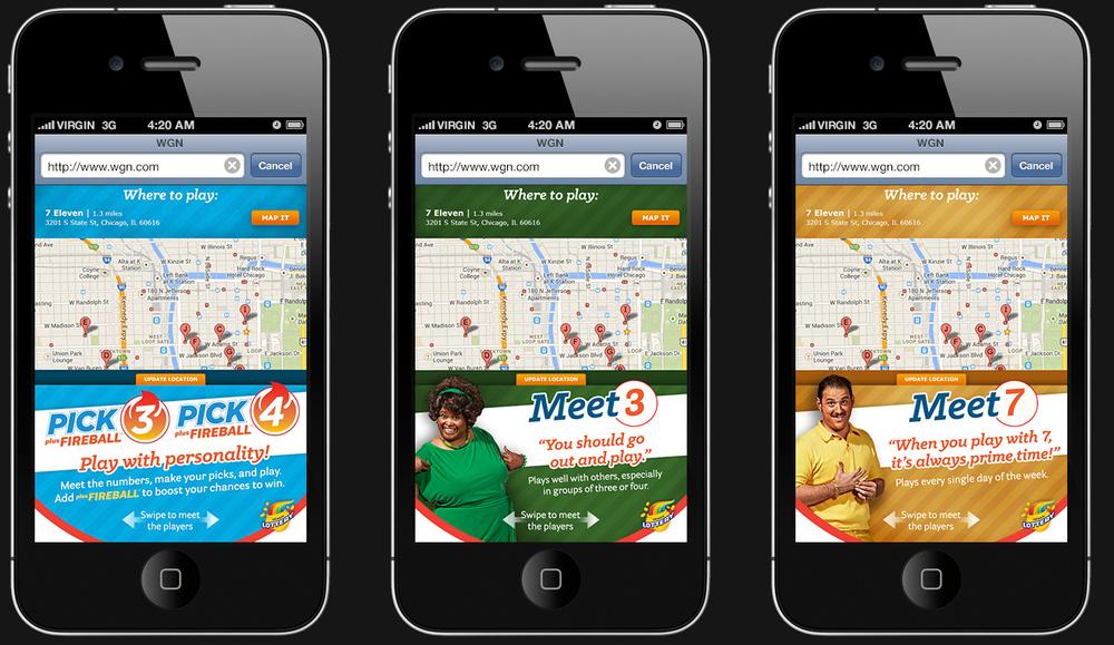 Pick 3/Pick 4 Campaign – Mobile