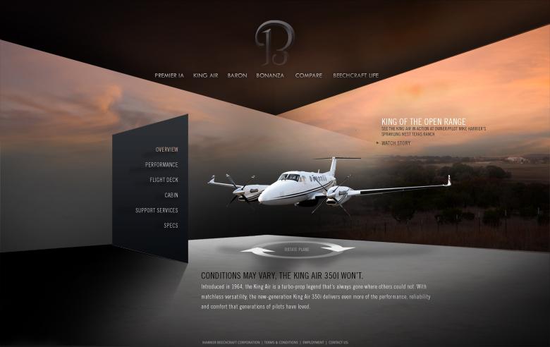 Beechcraft site concept
