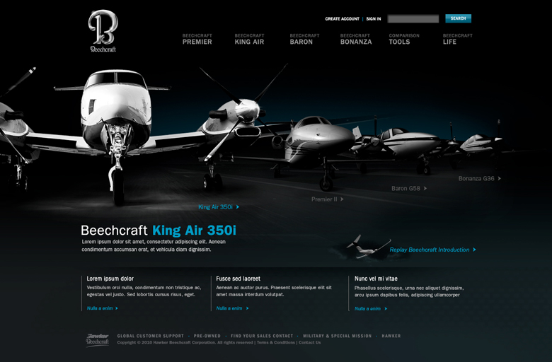Beechcraft final site