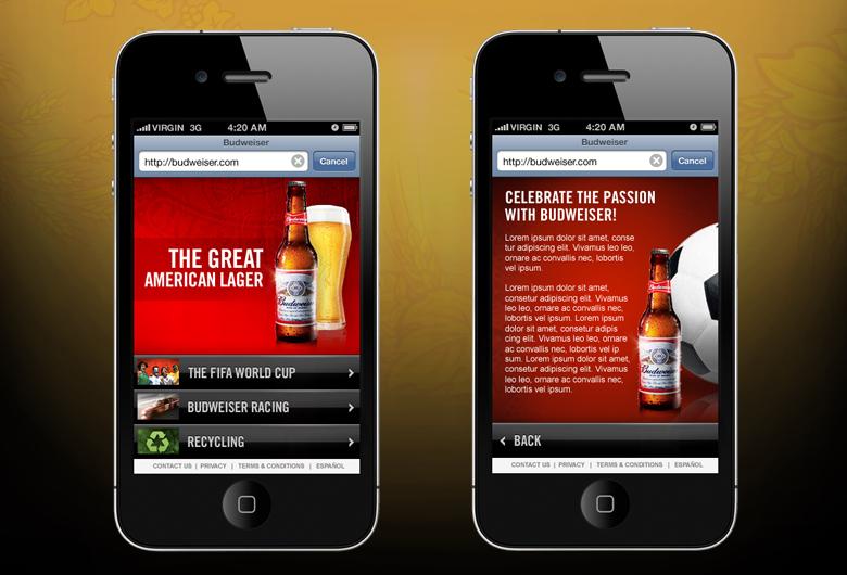 First mobile site for budweiser.com