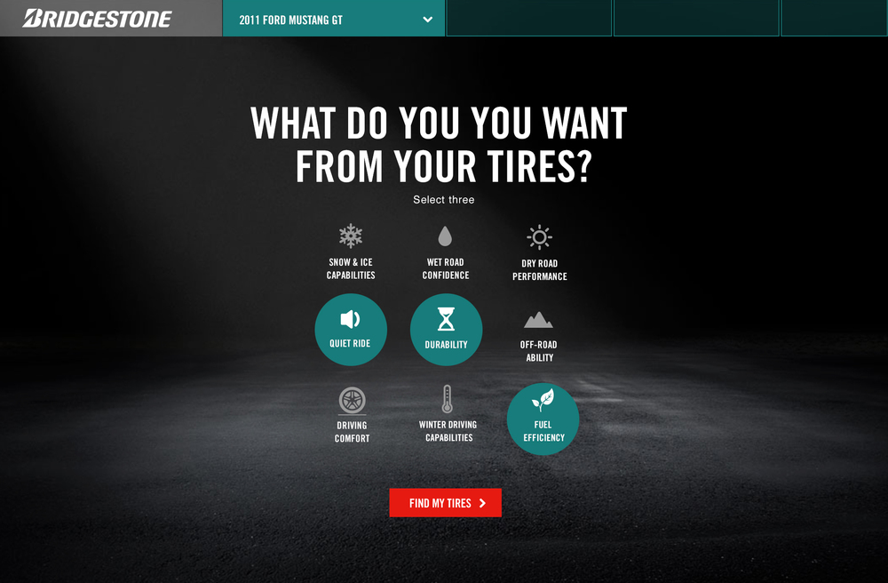 Tire advisor – selection