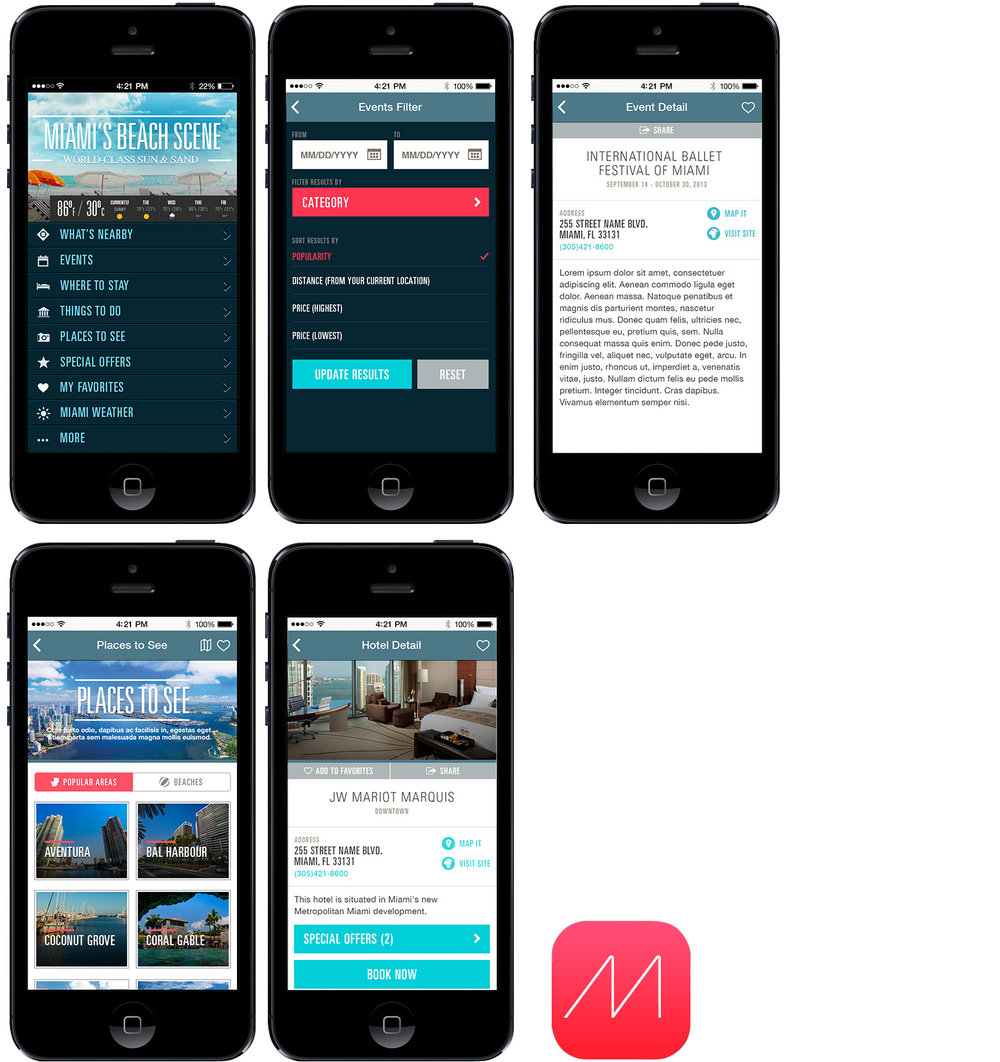 Miami and Beaches – App redesign