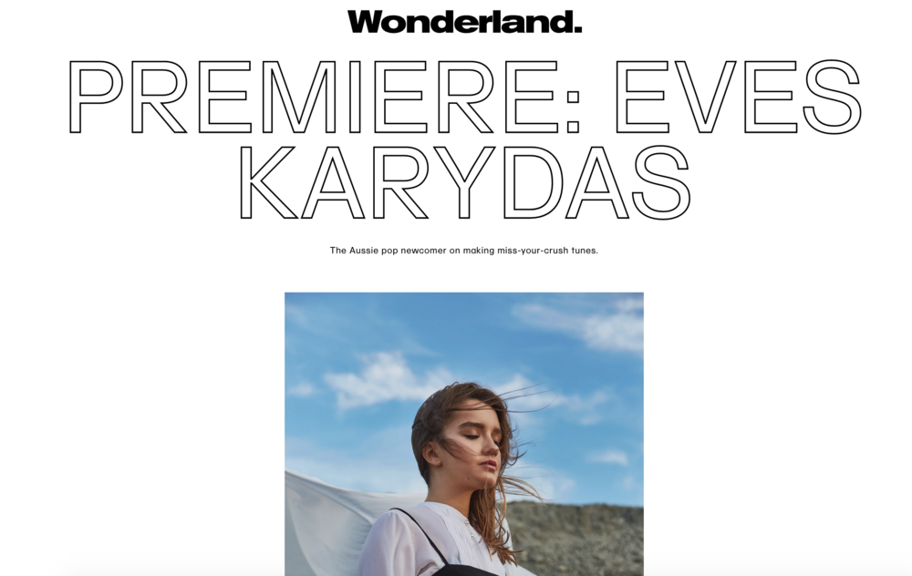 - EVES KARYDAS AS SEEN IN WONDERLAND MAGAZINE