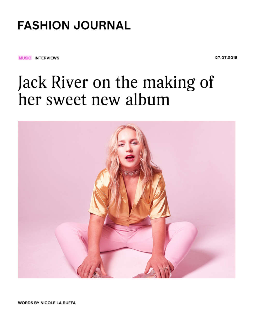Jack river as seen in Fashion journal