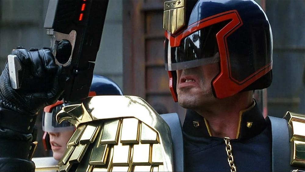 "-""I am the Law....and also a fascist in a silly costume"" -Judge Dredd"