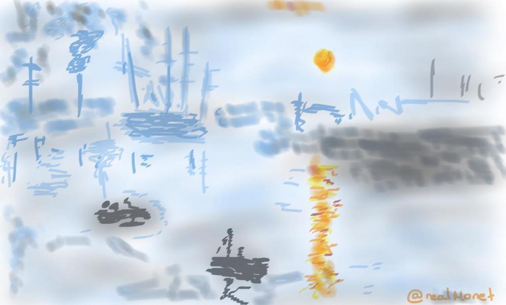 """1874 yılında Monet şerefsizinin çalıp """"Money""""e dönüştürdüğüimpresyonist tablom"""