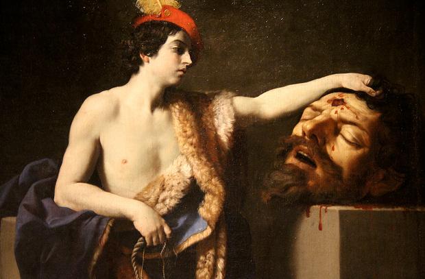Guido Reni, Golyat'ı öldüren psikopat Davut'u çizmiş.1605