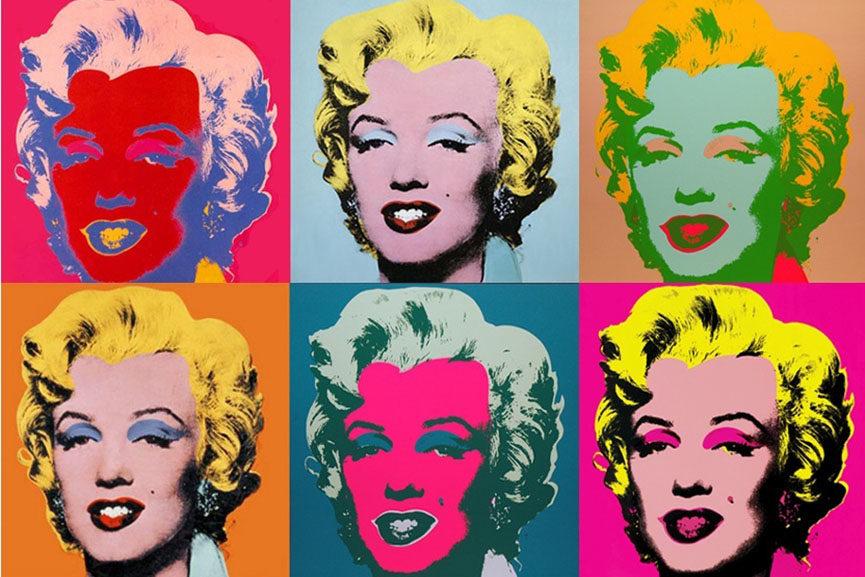 Andy Warhol'un meşhur posteri, kopyanın kopyalarıyla dolu. Ama Marilyn Monroe'nun orijinalinin zaten bir anlamı olmasına gerek yok bizim için.