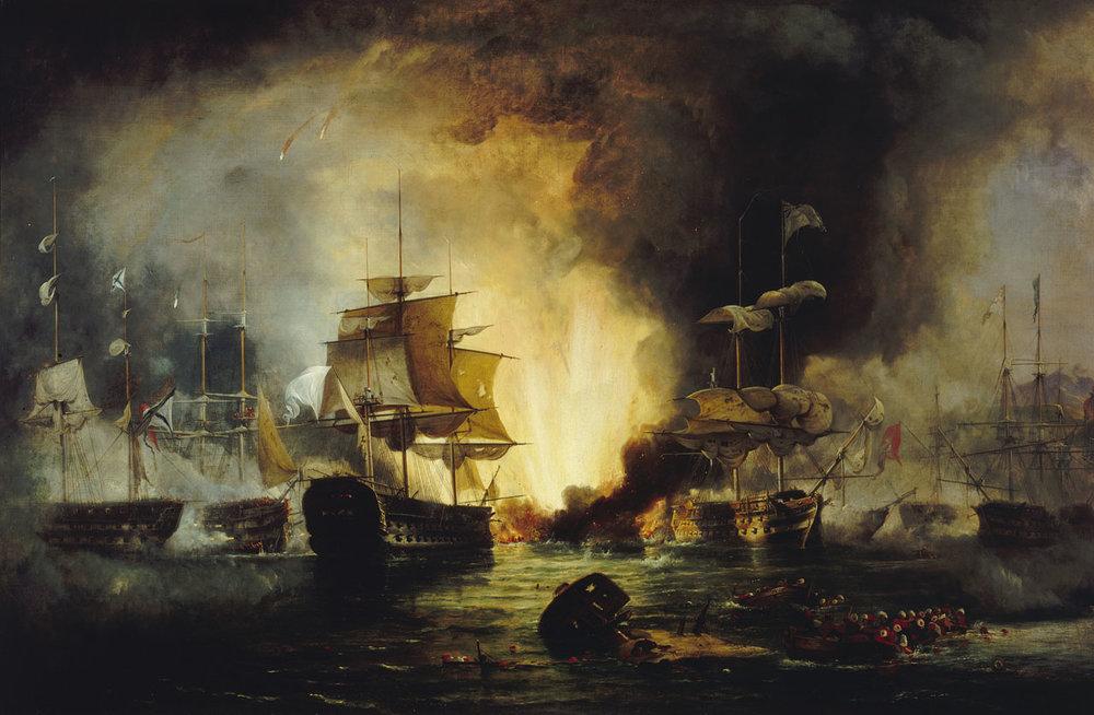Navarino Deniz Savaşı. Fotoğrafı az ışıkta, Samsung S4'le çektim. #nofilter #epicnavalbattlesofhistory #shitisgoingdown
