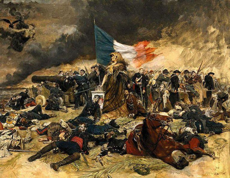 1870-71 Paris Kuşatması,Jean-Louis-Ernest Meissonier, yağlıboya. Sol üstteki figür, genel havayı yansıtıyor.