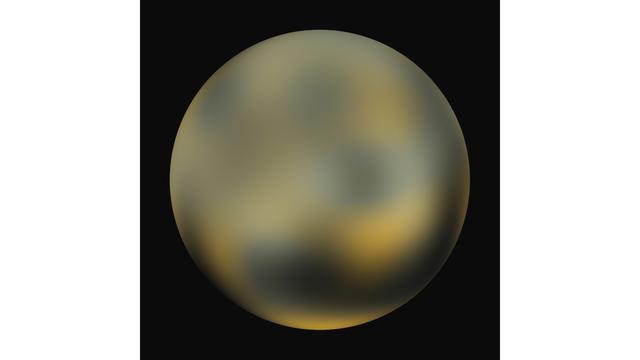 NASA'daki sapıkların, 2010 yılında soteye yatıp infrared teleskoplarla çektikleri bir Pluto fotoğrafı