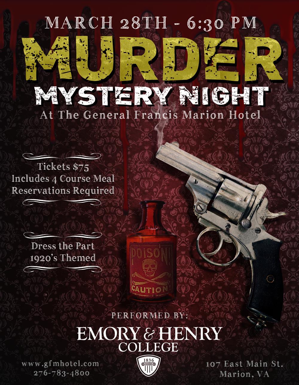 Murder Mystery Flier
