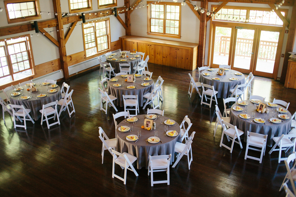 The beautiful reception room. The balcony from the bridal suite was perfect for reception shots.