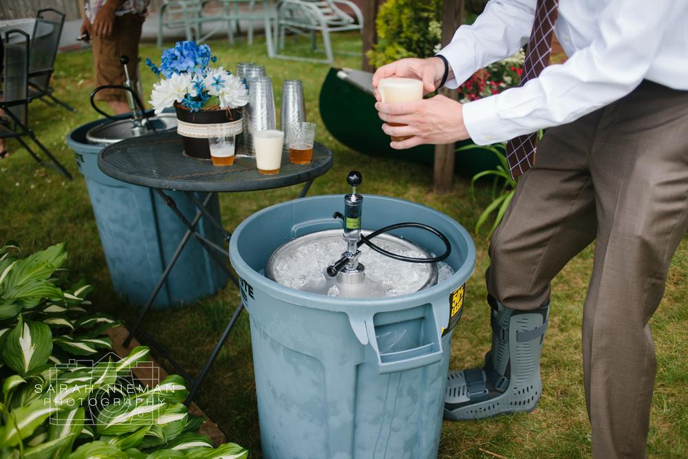 You know its a backyard wedding when...