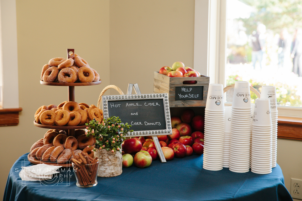 Any wedding with apple cider donuts is a perfect wedding.