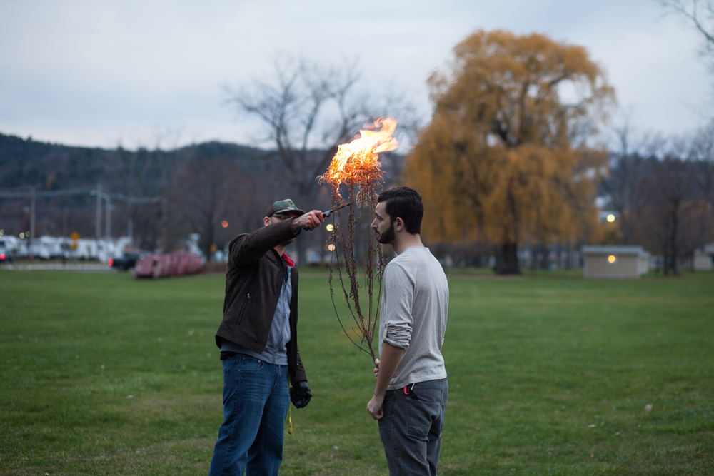 We're photographers, we love lighting things on fire.