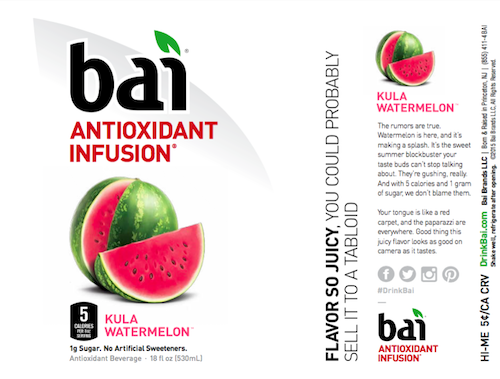 Bai Product Labels