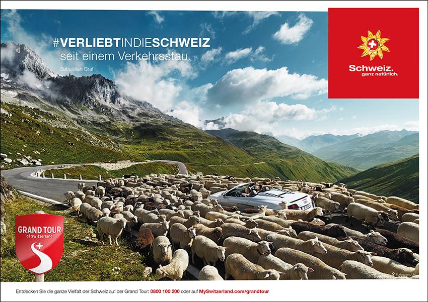 Schweiz Tourismus Stau
