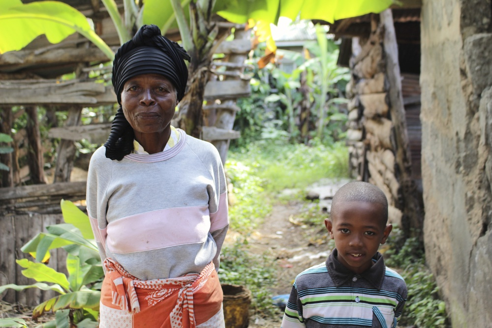 This is Eliwangu and her grandson, Jonas