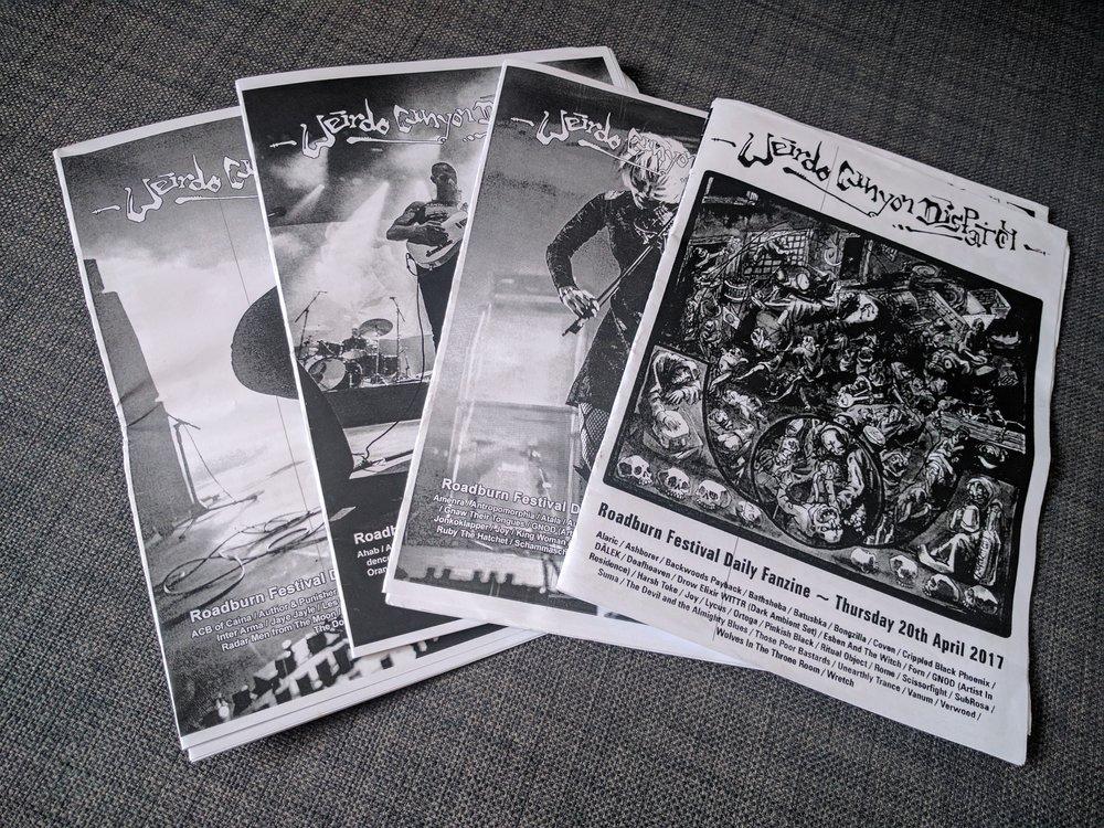 每天出炉的 Roadburn fanzines
