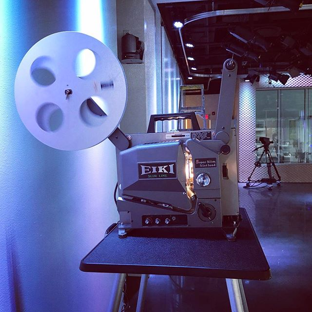 At Harbor Place in downtown Haverhill testing the 16mm projector. Getting ready for H.E.F.F. #5 this weekend!