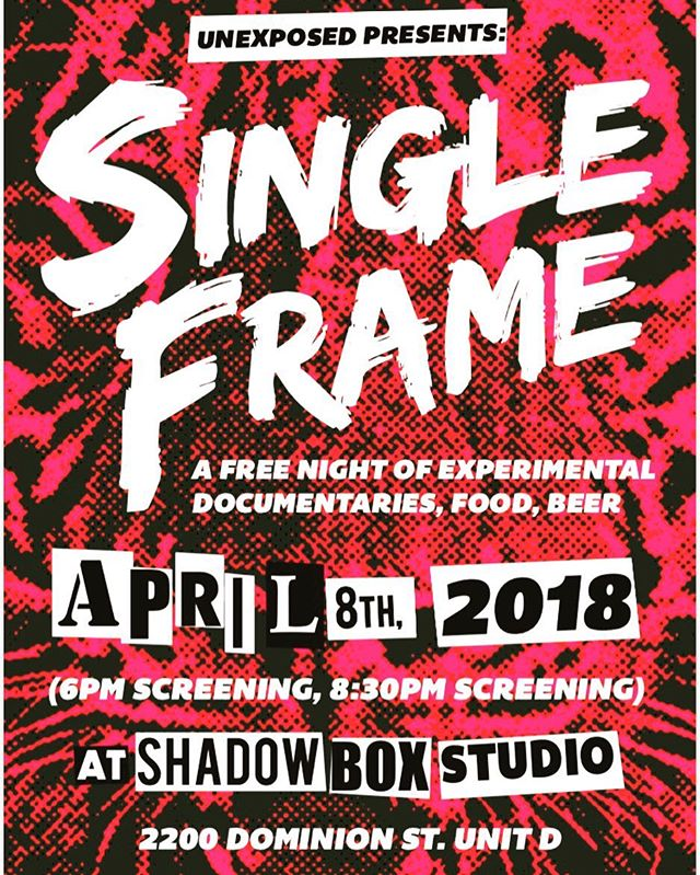 Single Frame debuts on April 8th in Durham, NC! Poster designed by @wutangmcdougal !