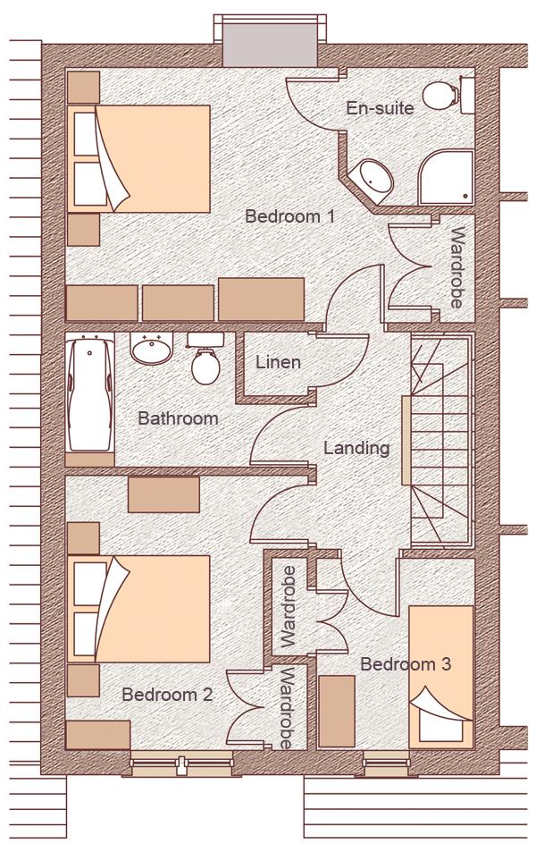 """Second Floor Bedroom 1: 5.14m x 3.58m (16'10"""" x 11'9"""") Bedroom 2: 3.86m x 3.41m (12'8"""" x 11'2"""") Bedroom 3: 2.70m x 2.23m (8'10"""" x 7'4"""")"""