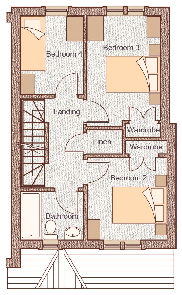 """First Floor Bedroom 2:2.90m x 3.00m(9'6"""" x 9'8"""") Bedroom 3:2.70m x 4.00m(8'10"""" x 13'1"""") Bedroom 4:2.30m x 2.89m(7'6"""" x 9'6"""")"""