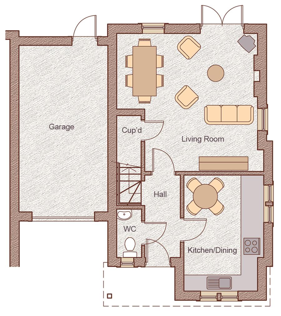 """Ground Floor Garage: 3.25m x 6.10m (10'8"""" x 20'1"""") Living/Dining: 5.17m x 5.00m (17'0"""" x 16'5"""") Kitchen/Dining: 2.90m x 4.25m (9'6"""" x 14'0"""")"""
