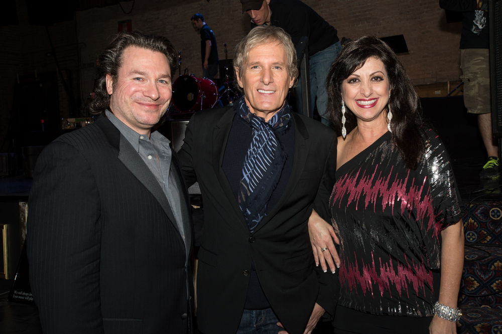 With Producer/Hubby, Michael Labno and Michael Bolton. Opened for Bolton's 2013 Christmas Show at Arcada, Chicago