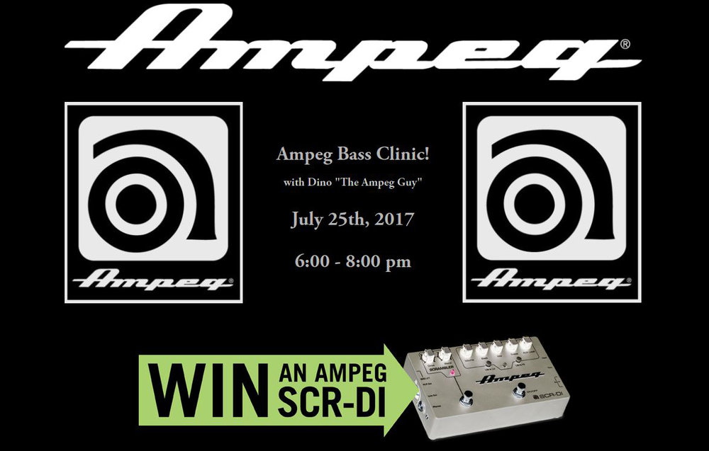 AMPEG BASS CLINIC!    Click for Details