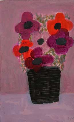 Anemones & Black Vase