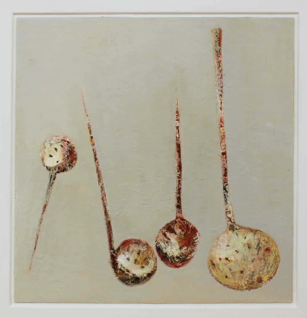 Marilyn Browning  Four Seives 64 x 64 cm oil on canvas £ 1800   Enquire