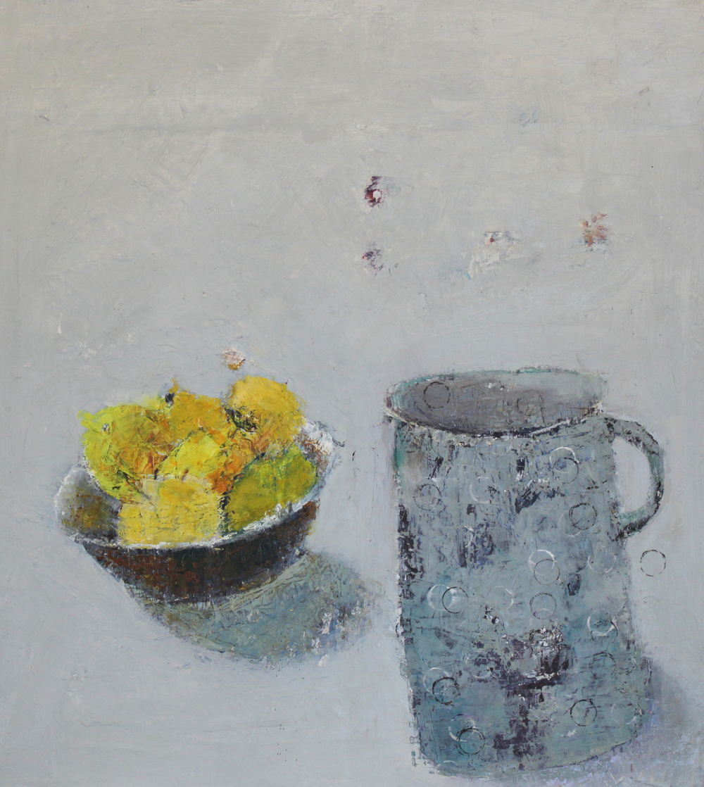 Marilyn Browning  Grey Jug & Lemons 46 x 50 cm £ 1300   Enquire