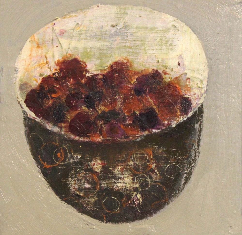 Marilyn Browning  Red Berry Bowl II 20 x 20 cm oil on canvas £ 400   Enquire