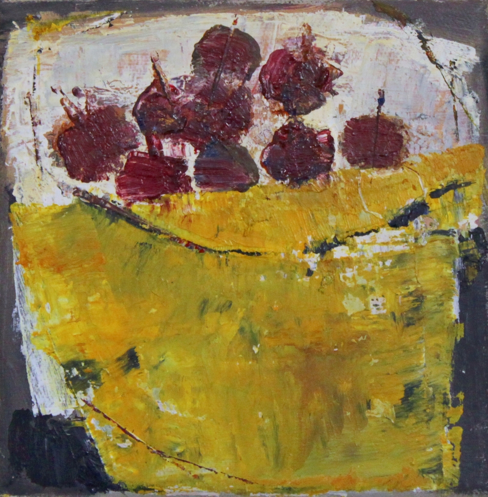 Marilyn Browning  Enamel Bowl Red Berries  oil on canvas 15 x 15 cm £ 300   Enquire